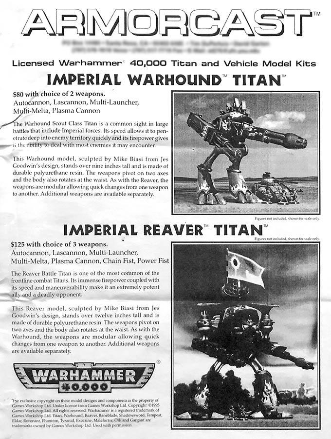 40K RETRO: Original 40K Titans Weren't Forge World - Bell of