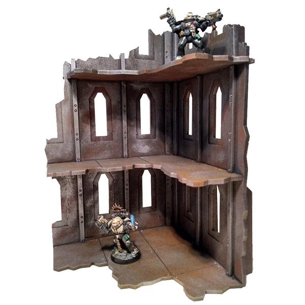 Gothic MDF Ruins - Wargame Terrain - Warhammer