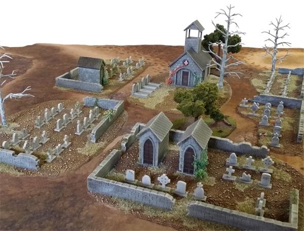 MDF Wargame Graveyard terrain