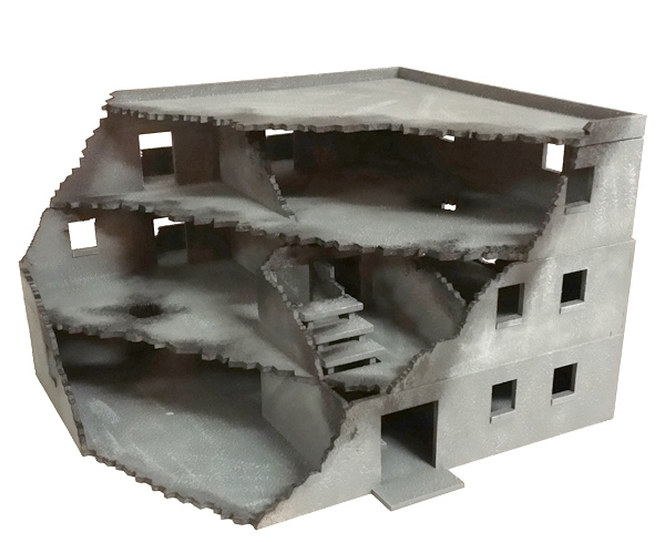 Ruined 28mm MDF Building