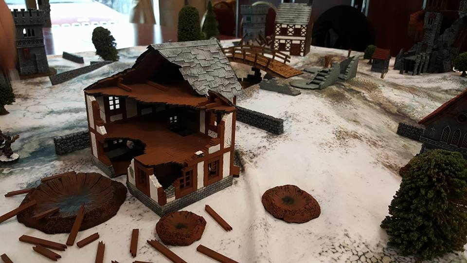 Must Contain Minis Frostgrave Table at Hotlead 2017
