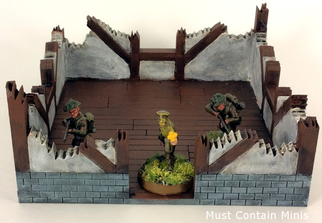 Ruined European Cottage for Bolt Action 28mm