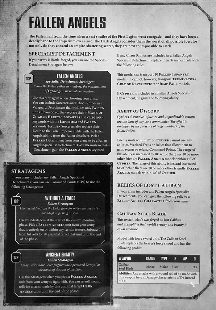 Vigilus Ablaze: Fallen Angels & Chaos Devastation Detachments - Bell