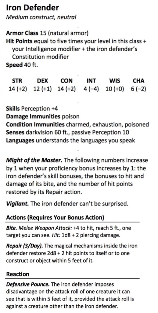 D&D: The Artificer Revisited With Two New Subclasses - Bell of Lost