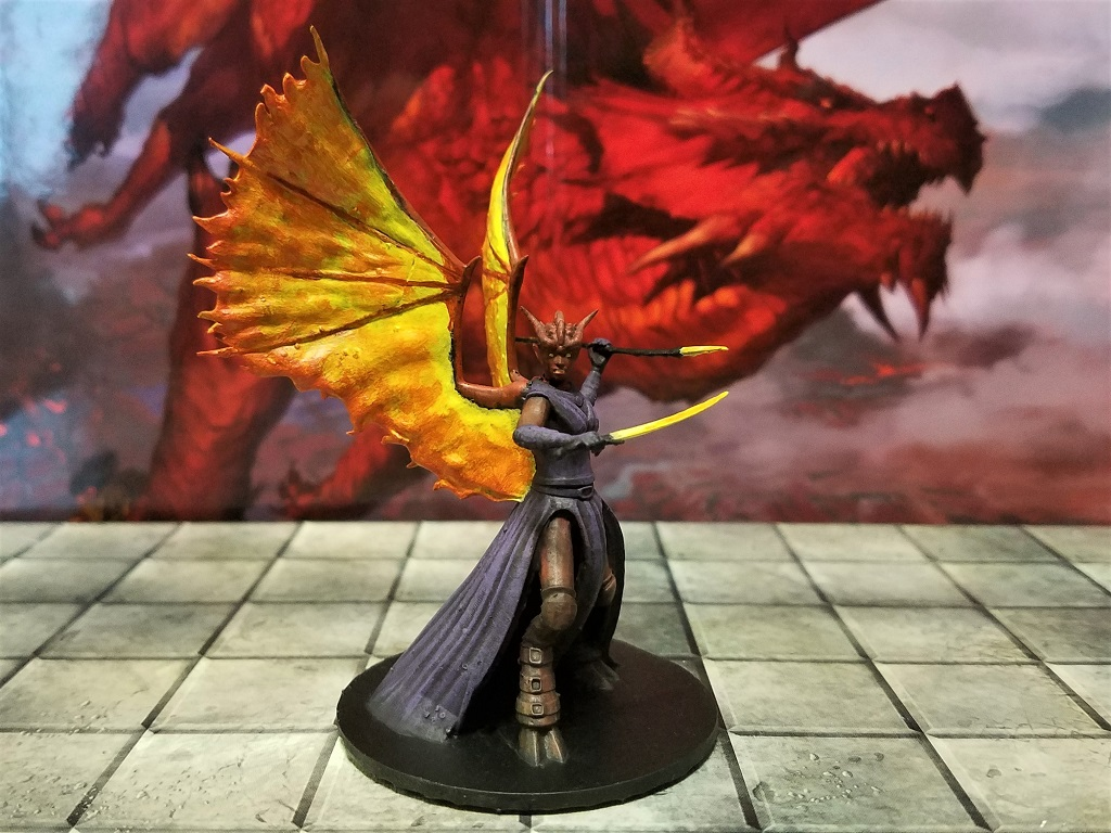 Red Abishai dnd Dungeons dragons characters Dungeons