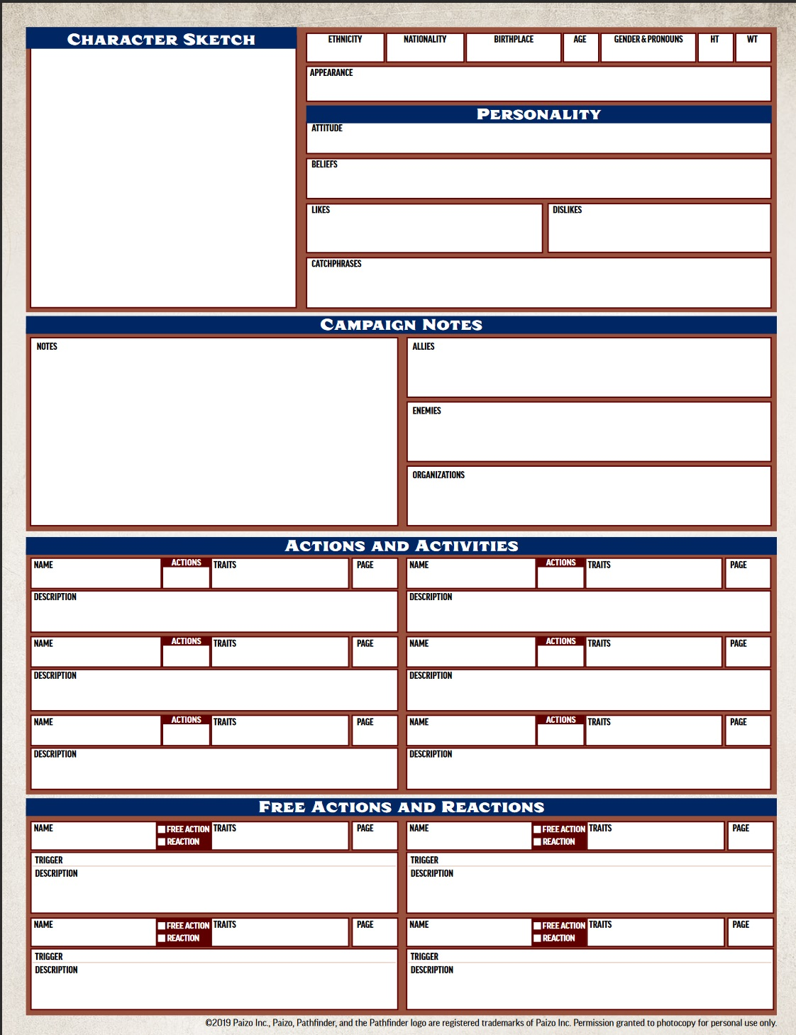 graphic regarding Pathfinder Character Sheets Printable identified as Pathfinders Instant Model Individuality Sheet Includes Anyone