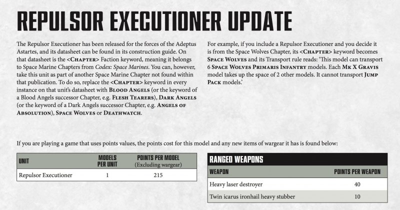 40K: The Repulsor Is Now Available For Non-Codex Marines