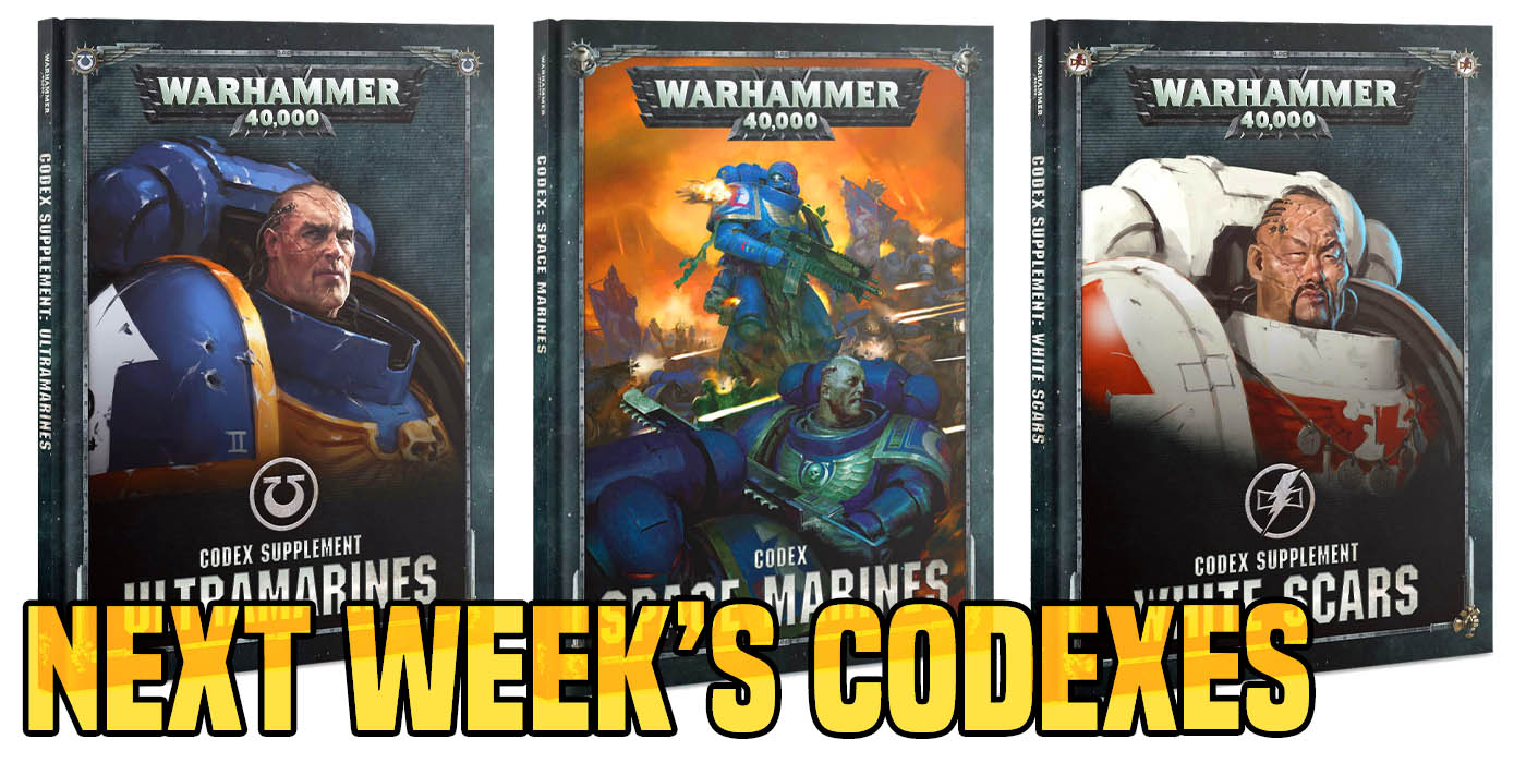 40K: Next Week's Releases - FOUR Marine Codexes - Bell of
