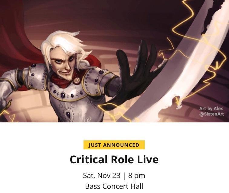 RPG: Taryon Darrington Rides Again In New Critical Role Live Show