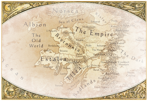 Old World Map Warhammer Warhammer: The Old World   New (Old) Map Revealed   Bell of Lost Souls