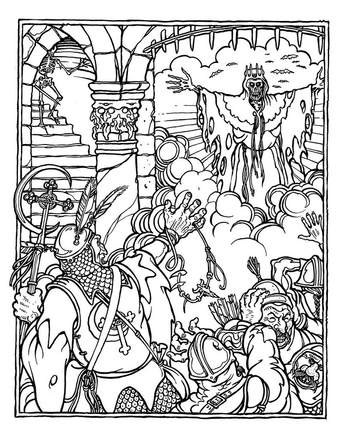 D D Coloring Pages Bell Of Lost Souls