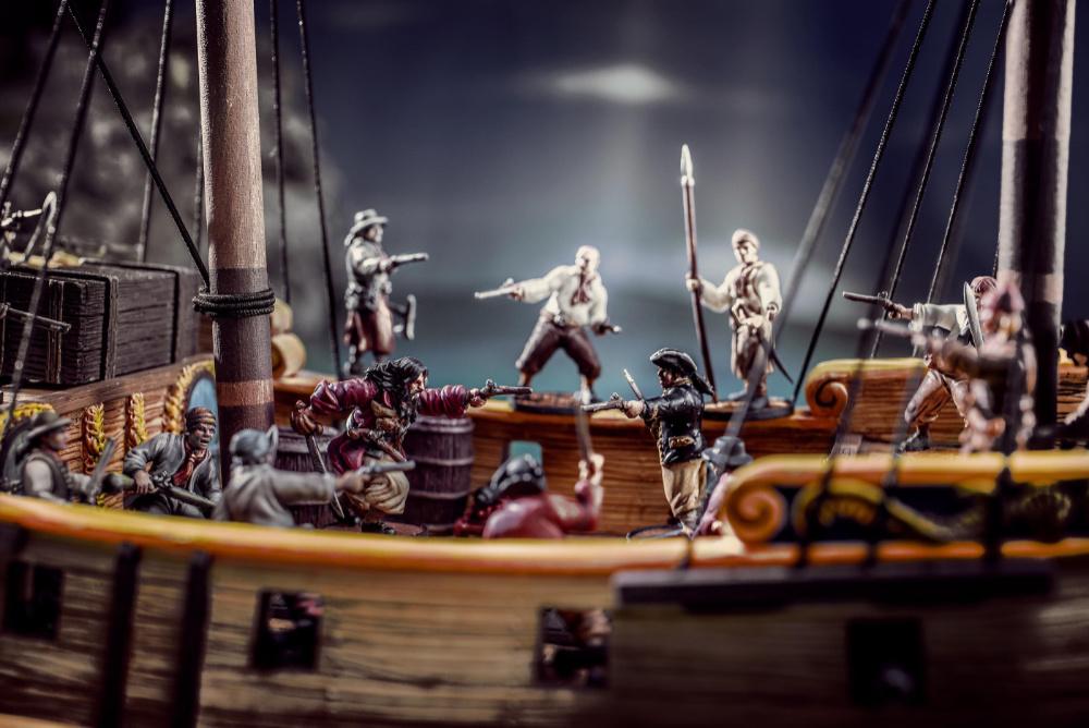 Pirate Battle in Raise the Black Blood & Plunder Kickstarter