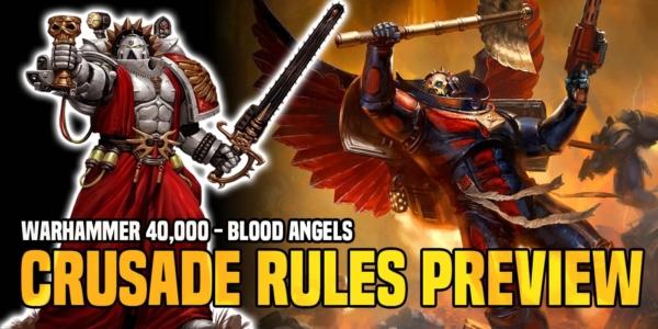 Warhammer 40K: Blood Angels Crusade Rules On Display