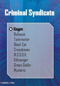 criminal syndicate affiliation list